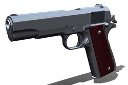 Colt .45 Automatic 1911A1 Redux 2nd Edition  SolidWorks, STEP / IGES