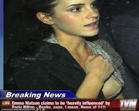 Emma Watson claims to be 'heavily influenced' by Paris Hilton  Boobs