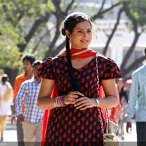Richa Pariyali in a still from the Marathi movie Duniyadari .
