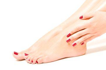 Lelulove13 01 21 Red Nails Flip Flop Feet