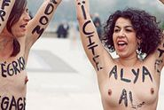 Manifestation de l'association Femen en soutien à Alia El Mahdy.