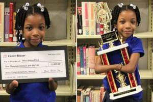 A 7-Yr-Old Girl Born Without Hands Wins National Handwriting Competition