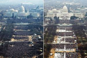 2009 vs. 2017: Comparing Trump's and Obama's Inauguration Crowds