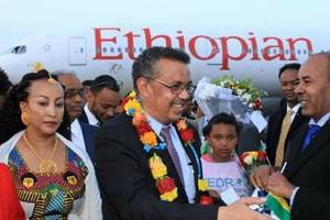 A red carpet welcome for Dr. Tedros Adhanom