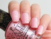 opi? Pussy Galore M50 Pearly Pink Glitter Matte Liquid Sand Nail