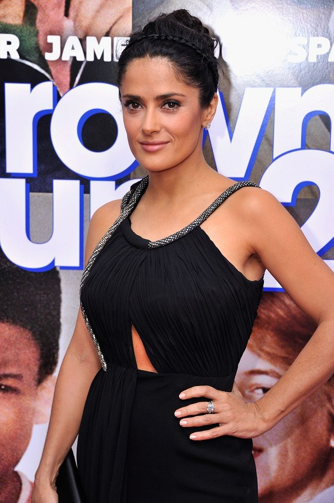 Salma Hayek At Premiere Grown Ups 2 In New York