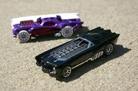 Hey! The Batman and TwoFace cars I designed last year are finally out