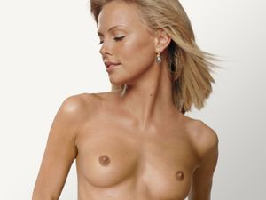 Nude naked topless celebrity: Charlize Theron nude for Peta