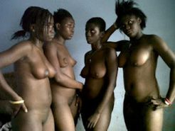 nigerian girls stripped naked and disgraced for stealing blackberry