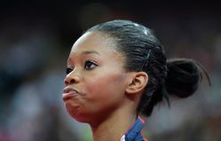 Sadder still is the trending topic of Gabby Douglas� hair style