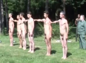 Straight guys exposed on the net@: naked soldiers having their lesson