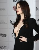 Plunging: The 31yearold actress left little to the imagination with