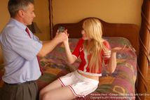 cheek quivering spanking in college discipline from firm hand spanking