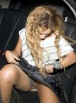 , VIDEOS & MANY MORE: Beyonce Knowles flashing pussy upskirt in car
