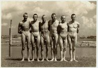 Naked amateur guys: 1930's nude soldiers
