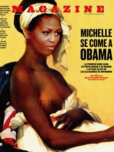 DAILY POST: PHOTO: Michelle Obama goes SEXY TOPLESS in magazine
