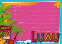 Party Planning Center: Free Printable Hawaiian Luau Party Invitations