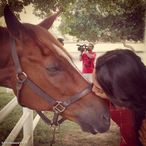 Hot n horny actress Sonakshi sinha kissing a horse!!!Guess what