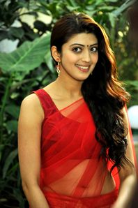 Pranita Hot in Transparent Saree - Tamil Movie Posters Images Actress