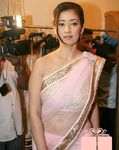 manisha koirala looking gorgeous in pink saree actress manisha koirala