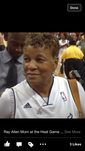 24/7 Local Miami Sports News : Ray allen Moms Supportin his Son at