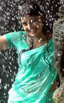monica showing her boobs in wet saree , monica nipple in wet saree