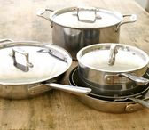 AllClad Saute & Simmer Pan (front left) is on sale for $99 95!!