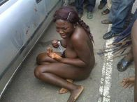 blog: Woman Stripped Naked After She Was Caught Stealing (Photo