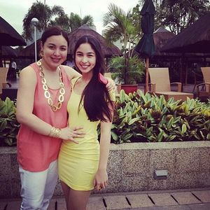 Julia Barretto with her Mom Marjorie Barretto