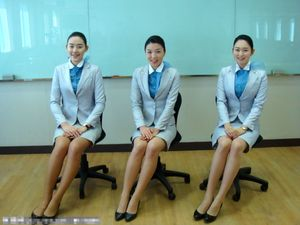 Pretty Air hostesses from Korean Air