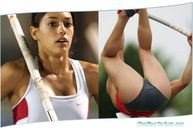 Beautiful High Jump Athletic Girl Photo Session Close   Galery Photo