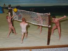 Of course, that age old pastime of nude volleyball with your best male