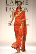 Designer Satya Paul S Saree Collection At Lakme Fashion Week 2010