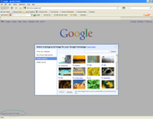 Google homepage ushers in background image like Bing