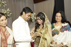 engagement of prova and rajib rajib and prova in a boishaki prograam