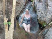 had a trip to zebedee springs a thermal pool with waterfalls  Sandra