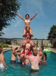 College Cheerleader Heaven: Bradley University Cheerleaders Pool Party