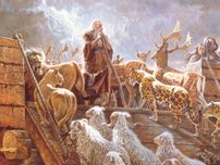 Noah guiding Animals into the Ark
