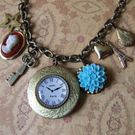 "Still on PARIS time"" Charm Necklace  Emily Loves Vintage"