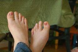 Random thoughts of a novelist: I pulled up a picture of mom's feet!