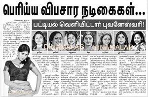 for prostitution has revealed the names of popular tamil actress