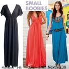flat chested people can get away with all types of maxi dresses