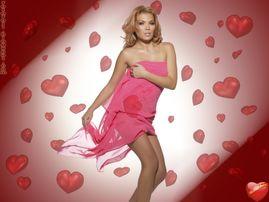 Wallpaper Sf Valentin cu vedeta Gina Pistol  Poza Valentine's day cu