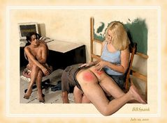 spanking art has always been a favorite with me be it ff or fm here