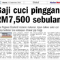 Gaji Cuci Pinggan RM 7500 Di Singapura