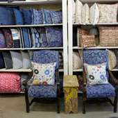 Check Out These New Chairs Covered In Vintage Indigo Fabric!