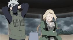 Kakashi and Tsunade looks dancing stupid