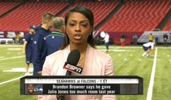 josina anderson reporting from atlanta before today s seahawks atlanta