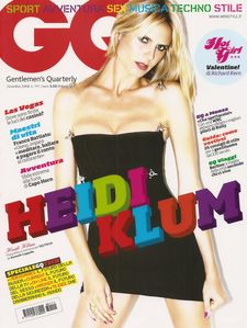 Blonde German Model Heidi Klum Modeling For The Cover  more