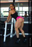 Monica Mowi Posing Her Muscular Legs